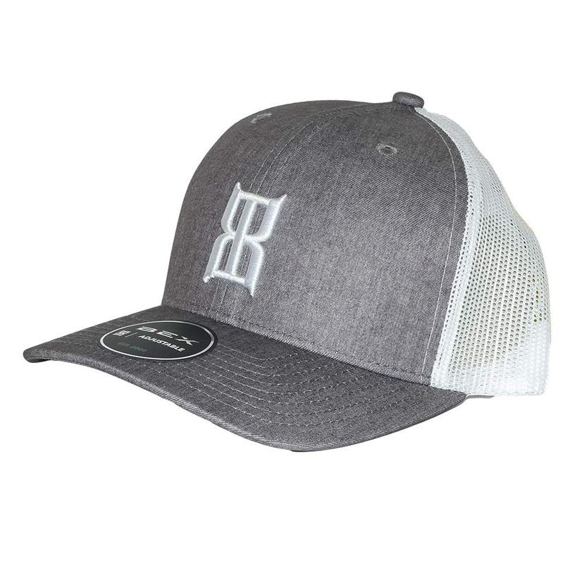 Bex Heather Steel 3d Front White Meshback Cap