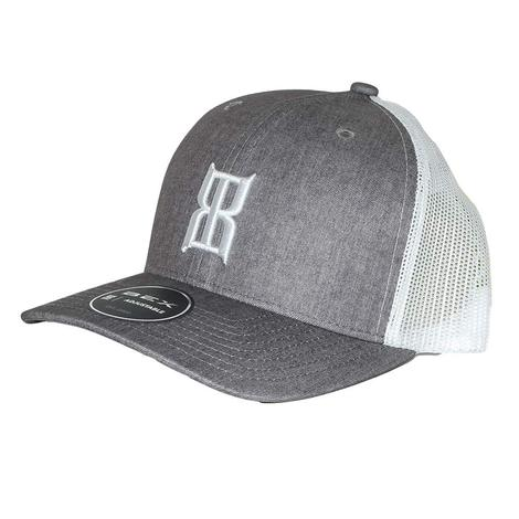 b11e2f51c BEX Heather STeel 3D Front White Meshback Cap