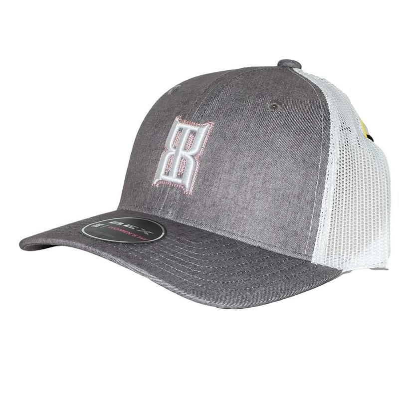 Bex Fawn Steele White 3d Front Meshback Women's Cap
