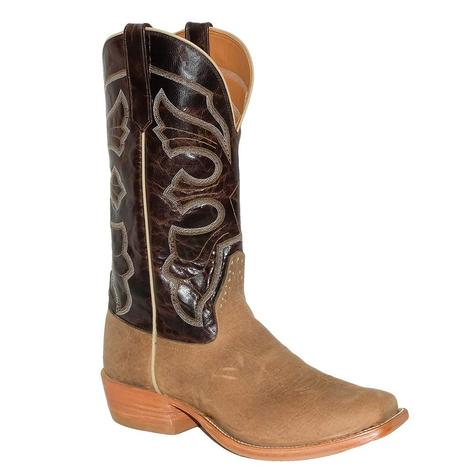 Rios of Mercedes Distressed American Bison and Chocolate Explosion Top Men's Boots
