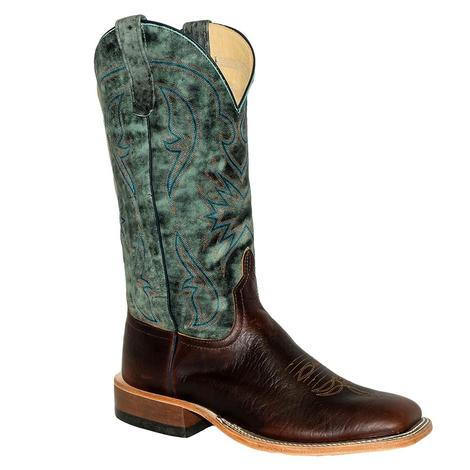Anderson Bean Mike Tyson Bison with Aqua Monet Men's Boots