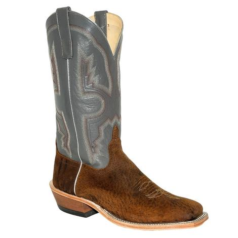 Anderson Bean Tag Boar with Charcoal Kidskin Men's Boots