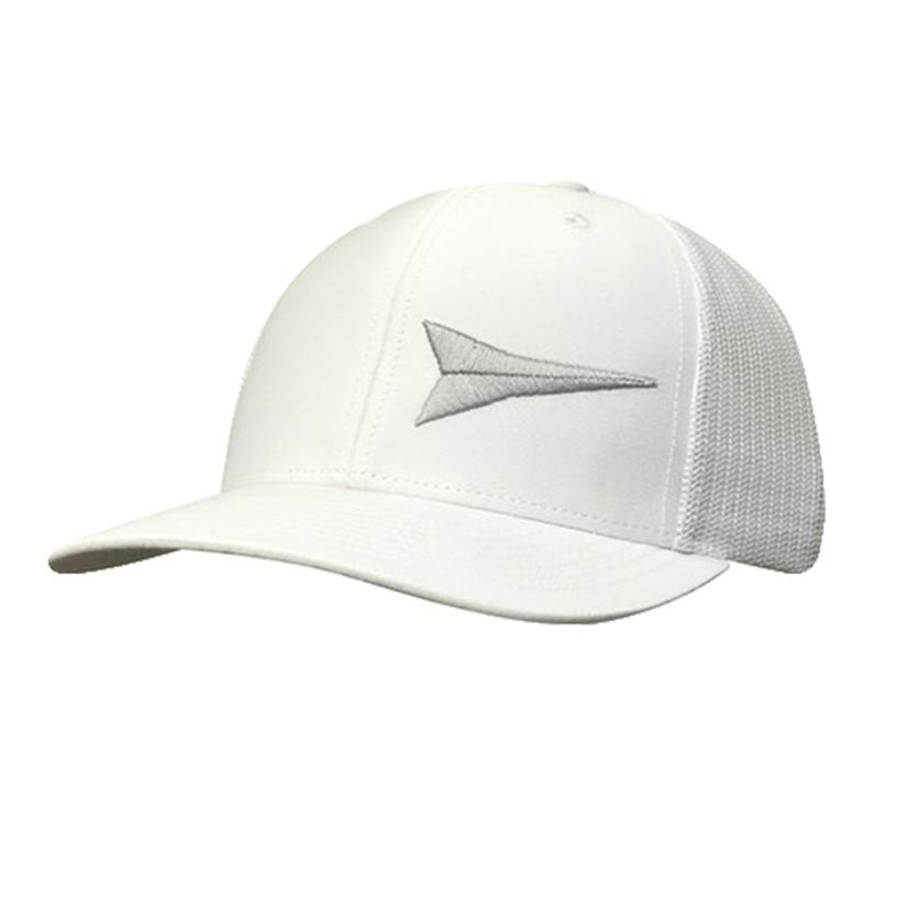 Fastback Grey And White Meshback Cap