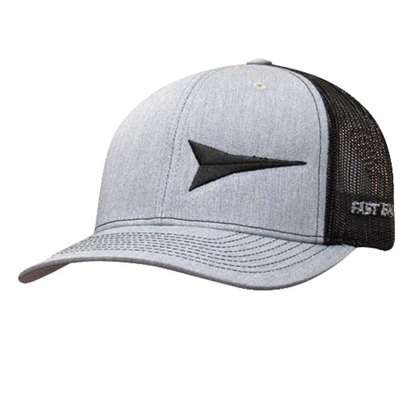 Fastback Grey And Black Meshback Cap