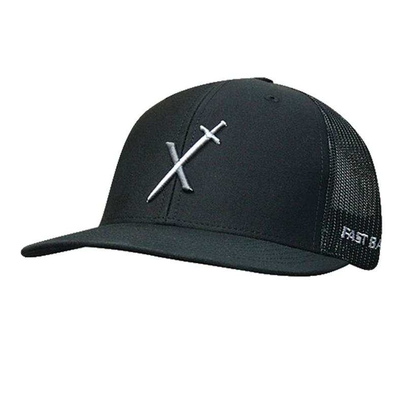 Fastback Black With Sword Logo Meshback Cap