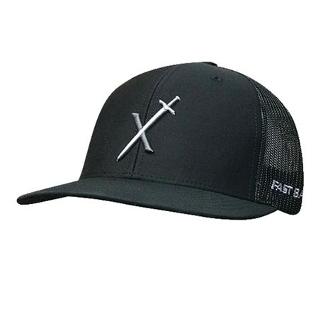 Fastback Black with Sword Logo Meshback Cap