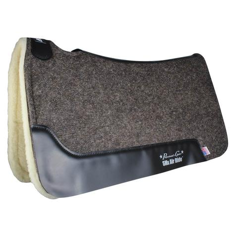 Professional Choice Cowboy Air Ride Barrel Pad Fleece Bottom - Charcoal 29