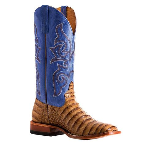 Horse Power Toasted Caiman Print Blue Sinsation Men's Boots