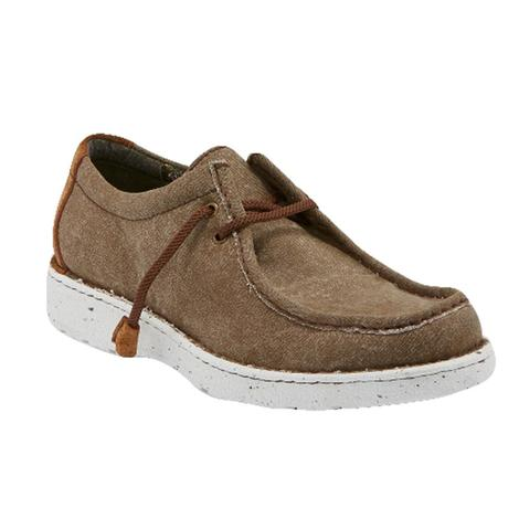 Justin Brown Canvas Laced Men's Shoes