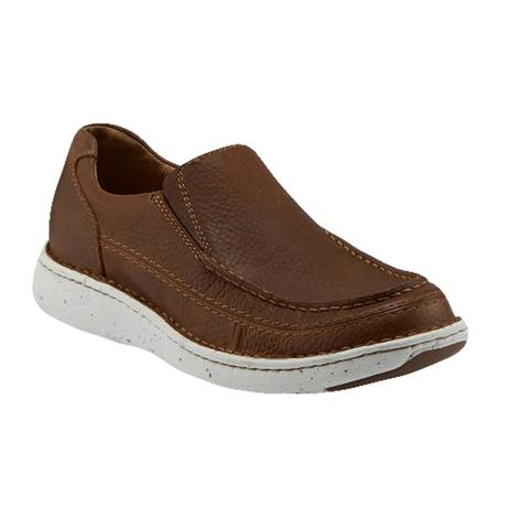 Justin Water Repellent Brown Cowhide Slipon Men's Shoe