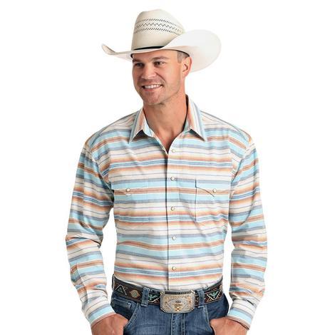 Panhandle Faded Serape Long Sleeve Snap Men's Shirt