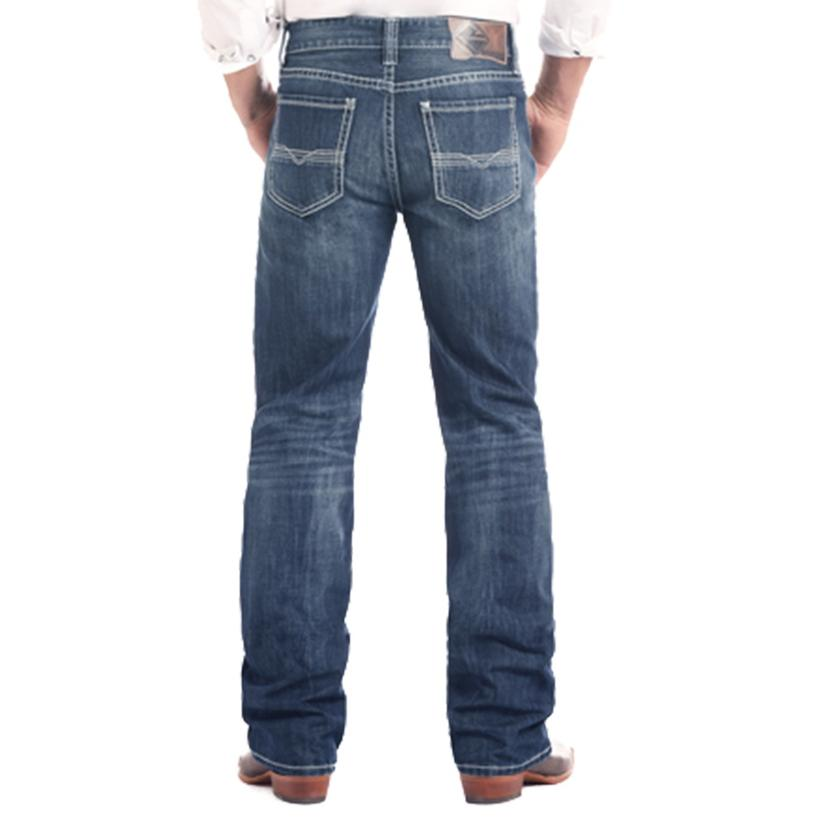 Rock And Roll Cowboy Double Barrel Straight Leg Dark Vintage Men's Jeans