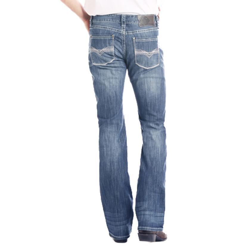 Rock And Roll Cowboy Double Barrel Straight Leg Reflex Medium Vintage Mens ' Jeans