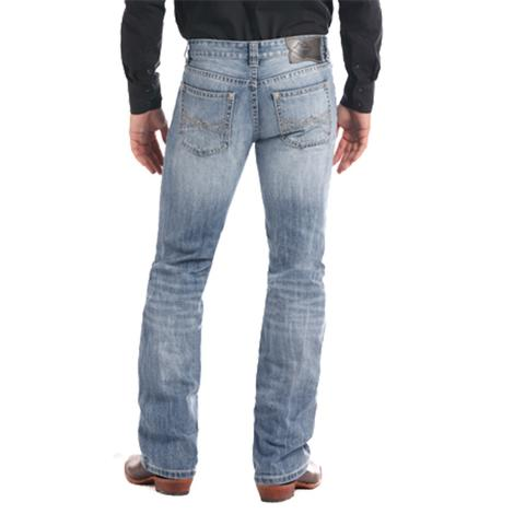 Rock and Roll Cowboy Pistol Straight Leg Light Vintage Men's Jeans