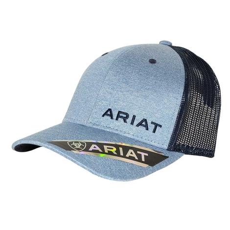 Ariat Blue Heather Navy Logo Meshback Cap