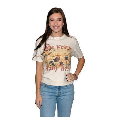 She Wears Many Hats Cream Women's Tee