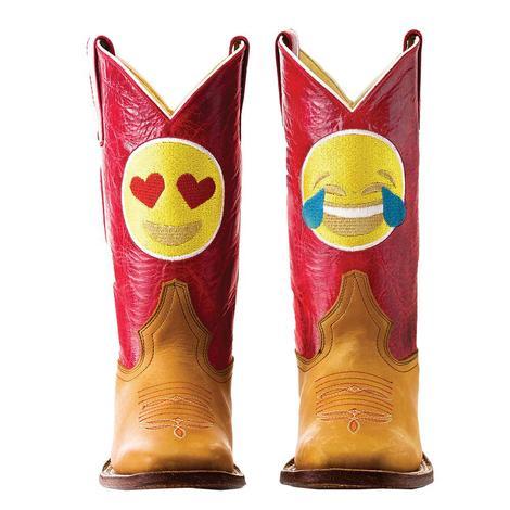 Macie Bean Hans Cognac Emoji Kid Boots