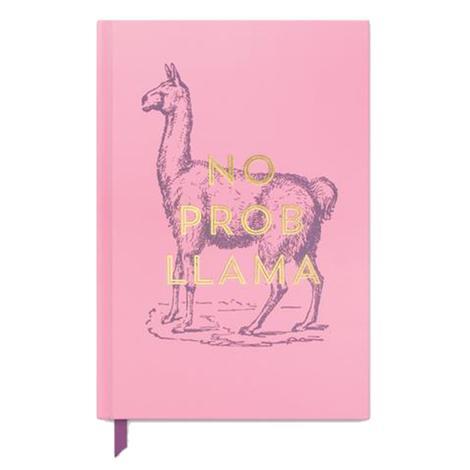 LLama No Prob Llama Vintage Hardcover Journal