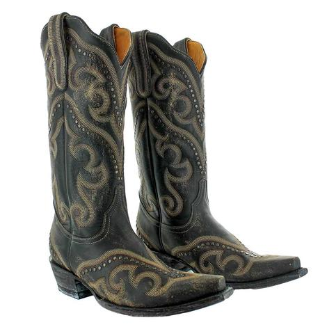 Old Gringo Shay Rustic Black Embroidered with Studs Women's Boots