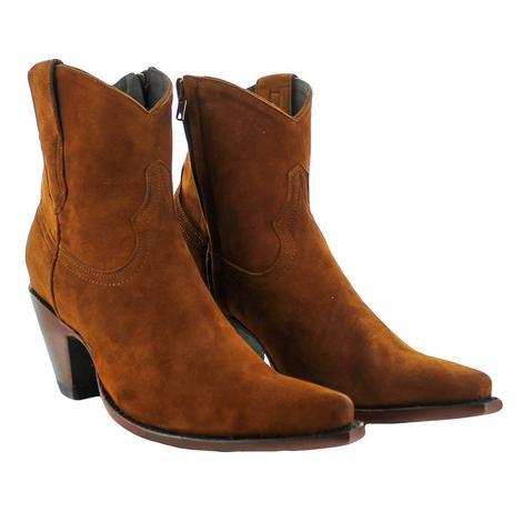 Old Gringo Bridget Cognac Suede Women's Shortie Boots