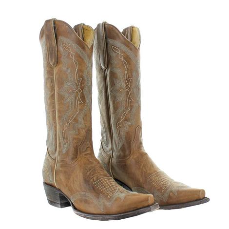 Old Gringo Peyton Oryx Brown with Silver Stitching Women's Boots