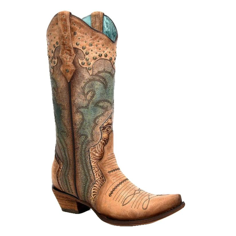 Corral Saddle Tan Embroidered Women's Boots