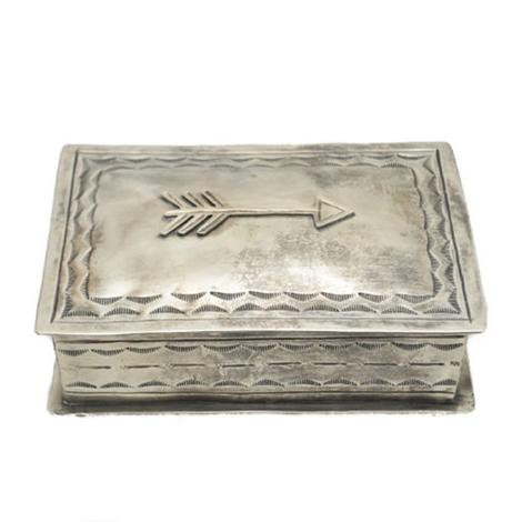 Sterling Silver Stamped Box with Single Arrow