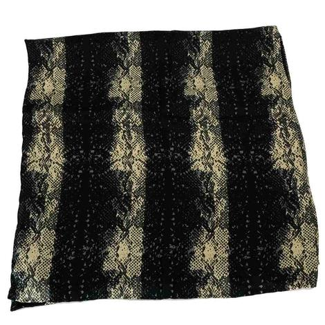 Python Charmeuse Black and Grey Scarf 34x34