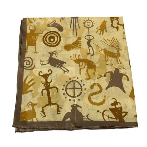 Cave Drawings in Neutral Tones Scarf 34x34