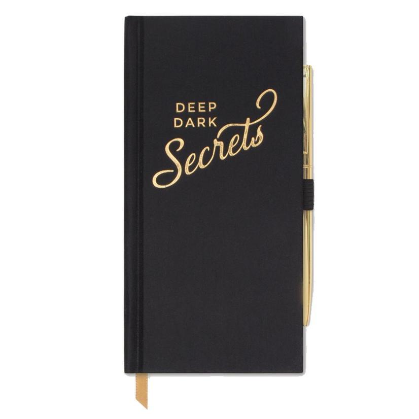 Deep Dark Secrets Black Bookcloth Journal