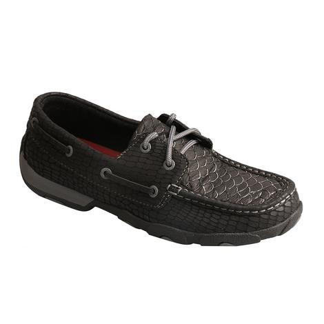Twisted X Black Fish Women's Driving Mocs