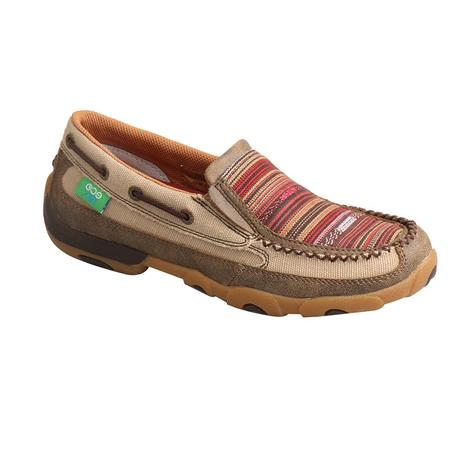 Twisted X Eco Red Serape Women's Driving Moc