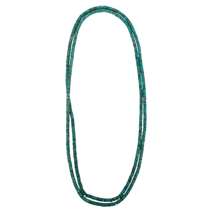 Turquoise Long Strand Necklace 48