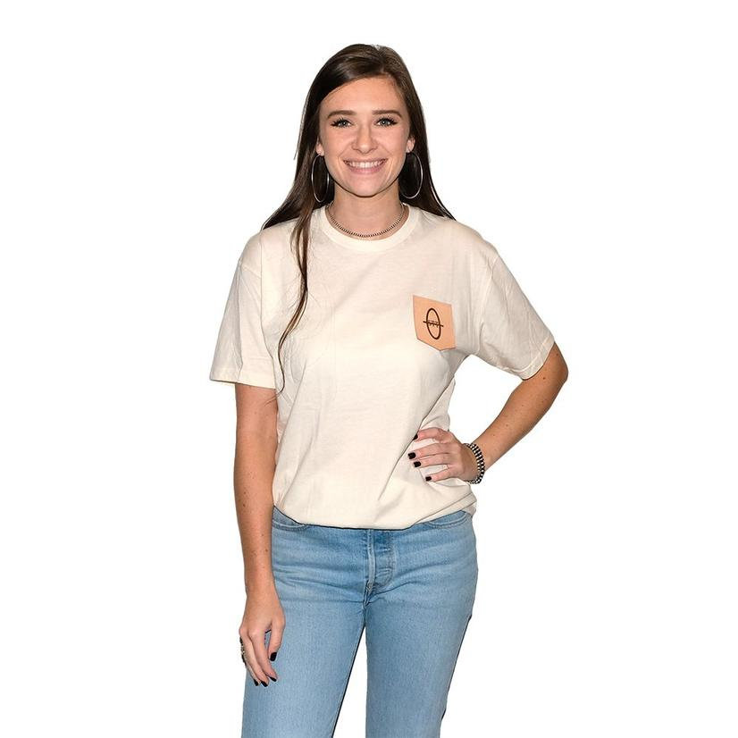 Stt Cream Leather Patch Women's Tee