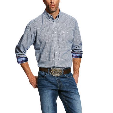 a447e531579 Ariat Relentless Long Sleeve Blue with Plaid Button Down Men's Shirt