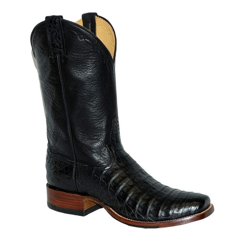Rod Patrick Black Caiman Boots