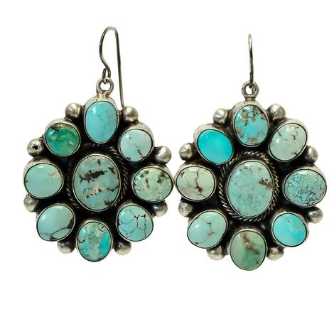 Turquoise Cluster Earrings