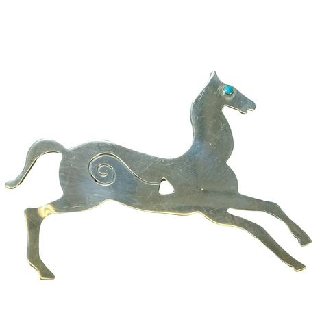 Vintage Sterling Silver Running Horse Pin