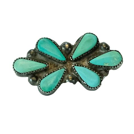 Vintage Sterling Silver and Sleeping Beauty Turquoise Pin