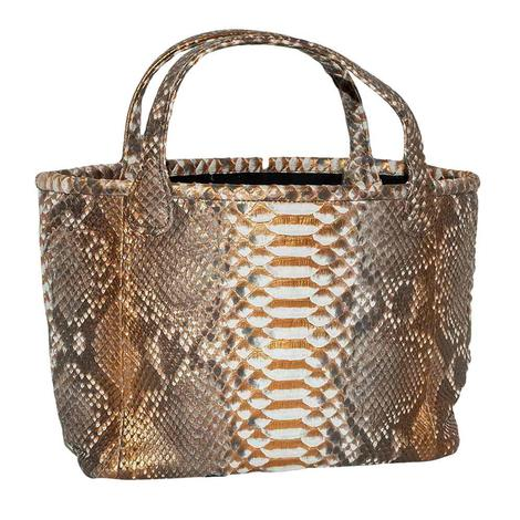 Helene Thomas Metallic Copper Python Mini Layla Tote