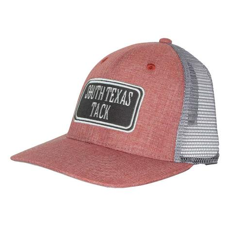 STT Heather Red and Khaki Patch Meshback Cap