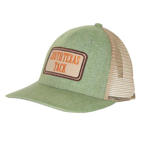 STT Heather Green and Khaki Patch Meshback Cap