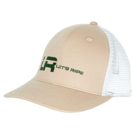 Let's Rope LR Tan and White Meshback Cap