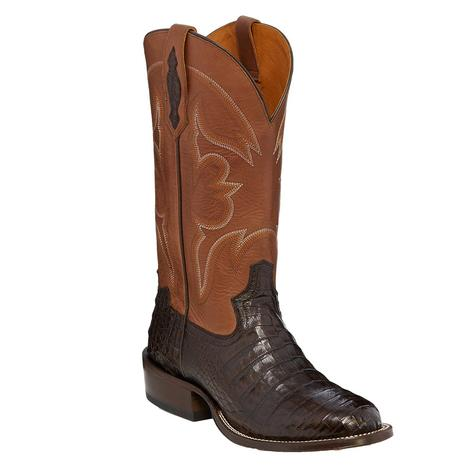 Tony Lama Zachary Brown Caiman Belly Men's Boots