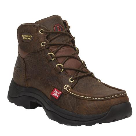 Tony Lama Hedrick 3R Lace-Up Men's Waterproof Steeltoe Workboots