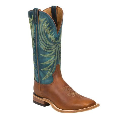 Tony Lama Bingham Green Tall Top Mens Boots