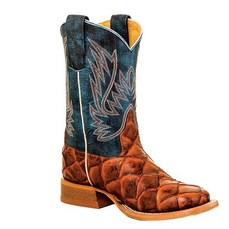Horse Power Cognac Filet Fo Fish Seas The Day Youth Boots - Youth Sizes 4-6