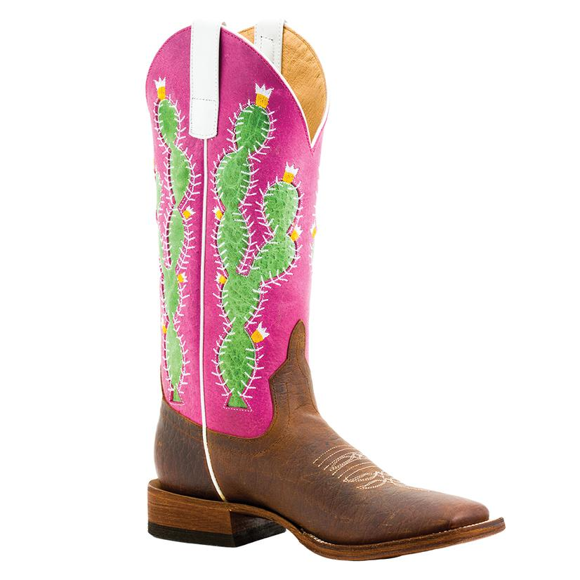 Macie Bean Girl ' S Prickly Pink Sinsation Cactus Boots - Kid Sizes 9- 13, 1- 3