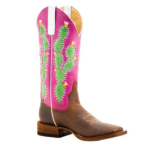 Macie Bean Girl's Prickly Pink Sinsation Cactus Boots - Kid Sizes 9-13, 1-3