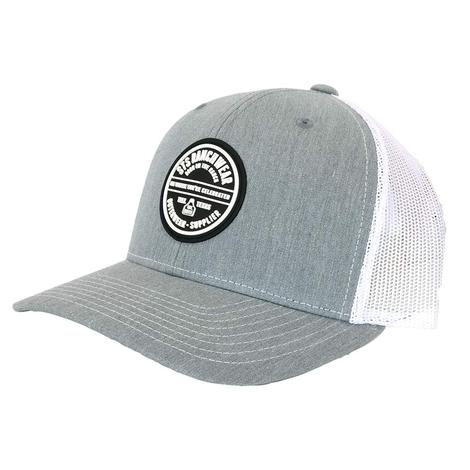 STS Ranchwear Heather Grey Patch Meshback Cap